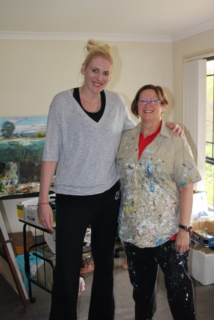 Lauren Jackson with Australian Artist, Margaret Hadfield